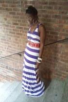 deep purple Jessica Simpson pumps - deep purple H&M dress