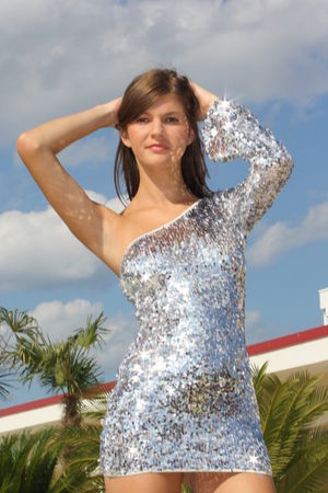 silver Laura olteanu dress