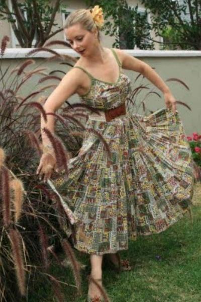 vintage from Ebay dress - Anthropologie belt - Anthropologie shoes - Anthropolog
