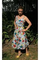 vintage from Ebay dress - vintage from Ebay belt - Anthropologie shoes - bracele