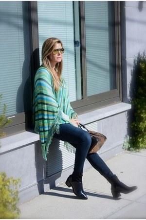 Missoni cape - Zara boots - j brand jeans - Mykita sunglasses