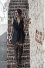 Dark-gray-schutz-shoes-black-mecca-dress-zara-bag-dolce-gabbana-glasses