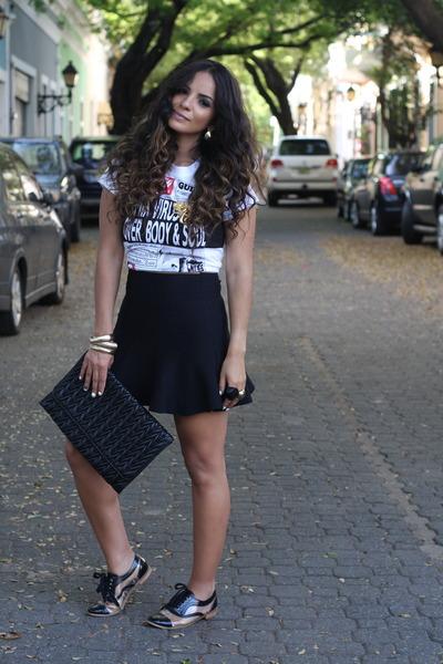 Mecca skirt - jean paul gaultier top - penny loves kenny flats