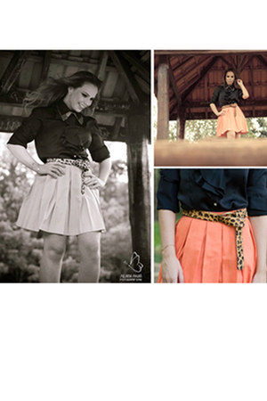skirt - shirt - belt - necklace