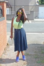 asos skirt - kat macione heels - lime green top new look top
