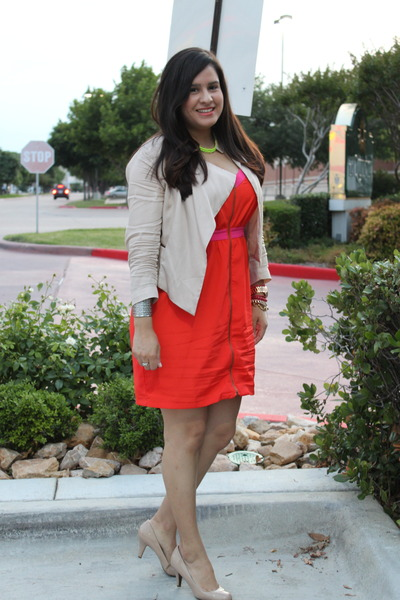 Colorblock Forever 21 Dresses Blush Gap Blazers Nude Candies