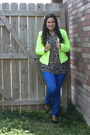 Neon-tweed-ana-jacket-tribal-print-kardashian-kollection-blouse