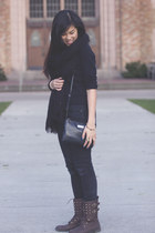 Forever 21 bracelet - UrbanOG boots - H&M jeans - Mango purse - asos ring