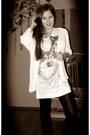 White-zara-cardigan-white-new-yorker-shirt-black-unknown-tights-silver-bij
