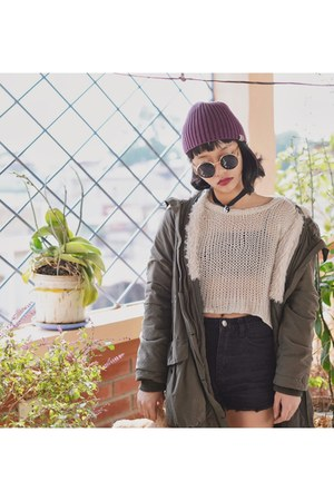 Converse shoes - Carhatt hat - Forever 21 jacket - vintage top