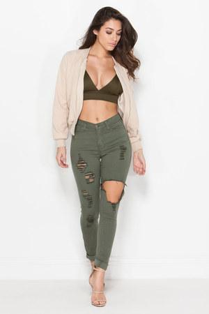 jacket - jeans - top - heels