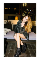 boots - jacket - top - skirt - ring - lion ring ring