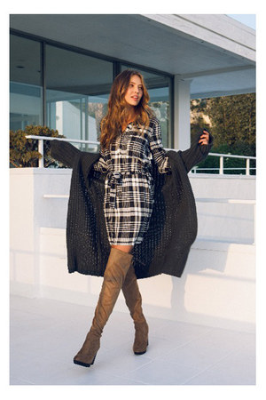 sweater - boots - dress