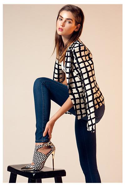 blazer - jeans - top - heels
