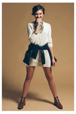 jacket - boots - dress - necklace