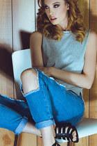 jeans - heels - top