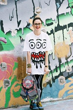 pull&bear bag - romwe leggings - asos shirt - nike sneakers - lego watch