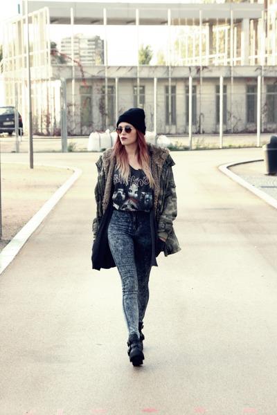 Primadonna boots - Zara coat - asos jeans - New Yorker hat