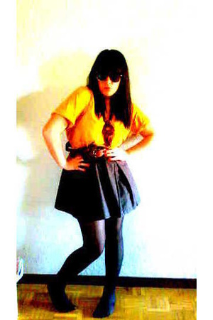 Springfield shirt - Bershka skirt - H&amp;M panties