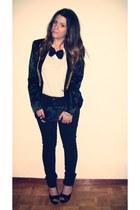 Primark jeans - H&M blazer - Accessorize bag