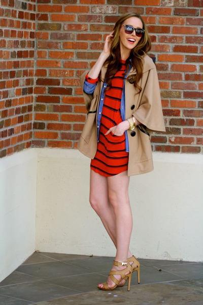 ruby red stripes Michael Stars dress