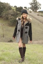 black asos jacket - me too boots - See by Chole sweater - asos accessories