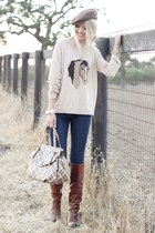 Joie sweater - Frye boots - Ralph Lauren hat - Marc Jacobs bag