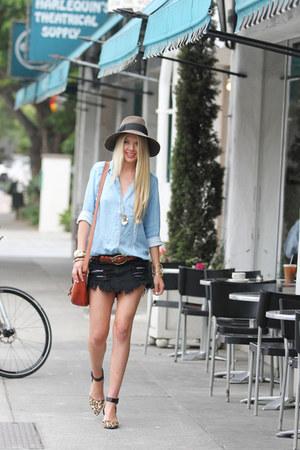 Eric Javits hat - Nordstrom shirt - loeffler randall bag - sam edelman heels