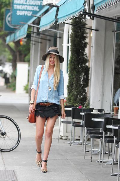 Eric Javits hat - Nordstrom shirt - loeffler randall bag - sam edelman heels 862e5998cc6