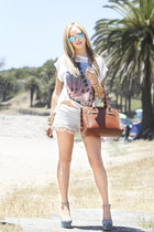 Wildfox t-shirt - Hammitt bag - nightcap shorts - Ray Ban sunglasses