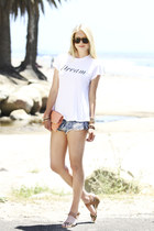 Clare Vivier bag - One Teaspoon shorts - Sabre sunglasses - sam edelmen sandals