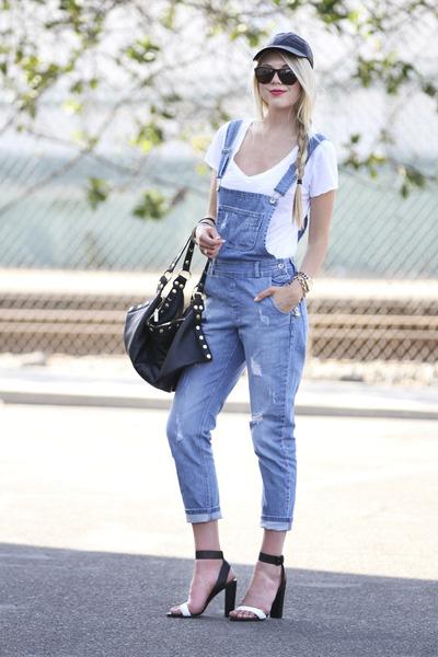 asos jeans - asos hat - asos shirt - Hammitt LA bag - vince heels