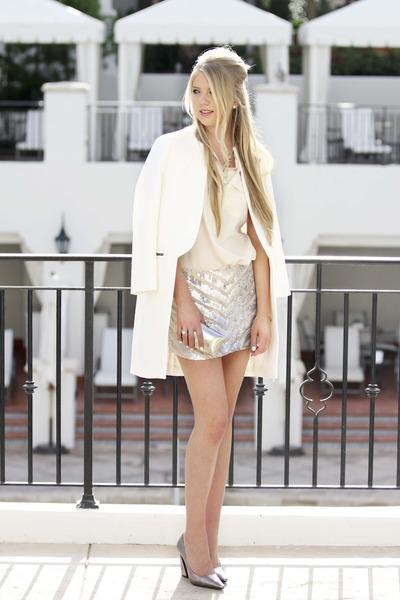 Parker skirt - Topshop coat - Serpui marie bag - Jeffery Campbell heels