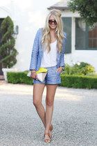 Joie blazer - Gap bag - Joie shorts - sam edelman sandals - Nordstrom top
