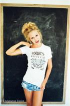 Kitty Cat Apparel t-shirt - One Teaspoon shorts