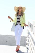 Flora Bella hat - gibson blazer - Michael Stars shirt - botkier bag