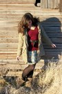 Light-blue-rue-21-dress-light-brown-payless-boots-tan-sears-jacket