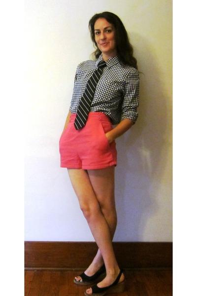 Vintage Ralph Lauren shirt - lucca couture shorts - striped vintage tie