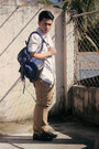 Ivory-forever-21-shirt-navy-regatta-bag-brown-zara-pants