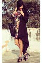 purple block heels Marc Jacobs shoes - amethyst neoprene Zara dress