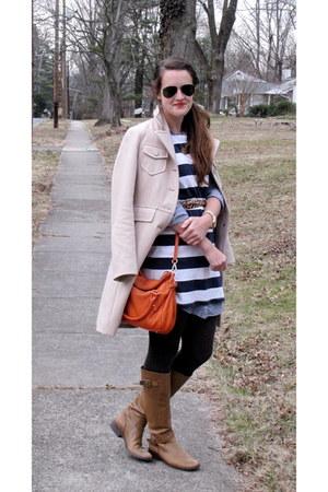 H&M dress - franco sarto boots - Kenneth Cole coat - kate spade bag - Zara belt