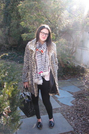 Forever 21 coat - kate spade scarf - kate spade bag - Dolce Vita loafers