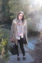 Forever 21 coat - kate spade scarf - kate spade bag - Dolce Vita loafers