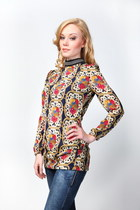 High Neck Baroque Blouse
