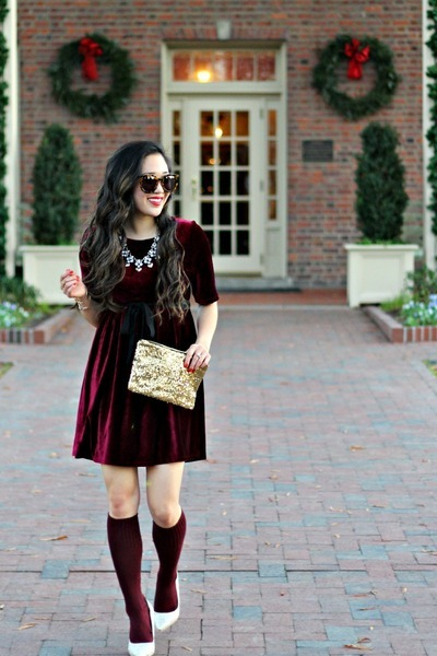 gold clutch Accessory Jane bag - crimson Impressions Boutique dress