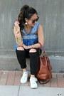 Black-topshop-jeans-brown-bucket-madewell-bag-blue-madewell-top