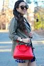 Black-boohoo-boots-olive-green-impressions-boutique-jacket-red-express-bag