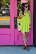 brown booties AmiClubWear boots - lime green boutique dress