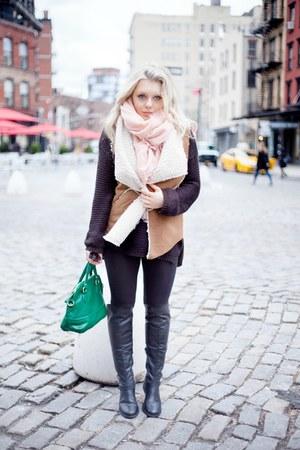 Sanctuary vest - Steve Madden boots - H&M leggings - H&M scarf