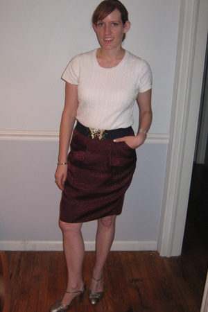Target sweater - BCBG skirt - vintage belt - payless shoes